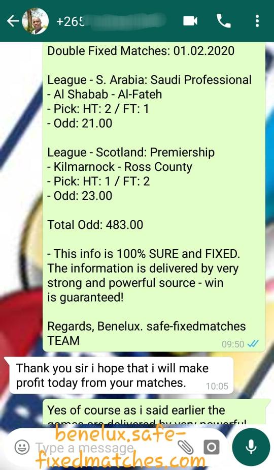 Football Single Fixed Matches
